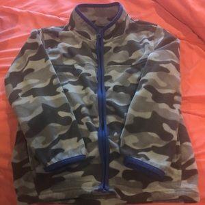 Boys Osh Kosh full zip grey camo fleece, size 7